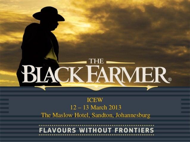 ICEW 12 – 13 March 2013 The Maslow Hotel, Sandton, Johannesburg