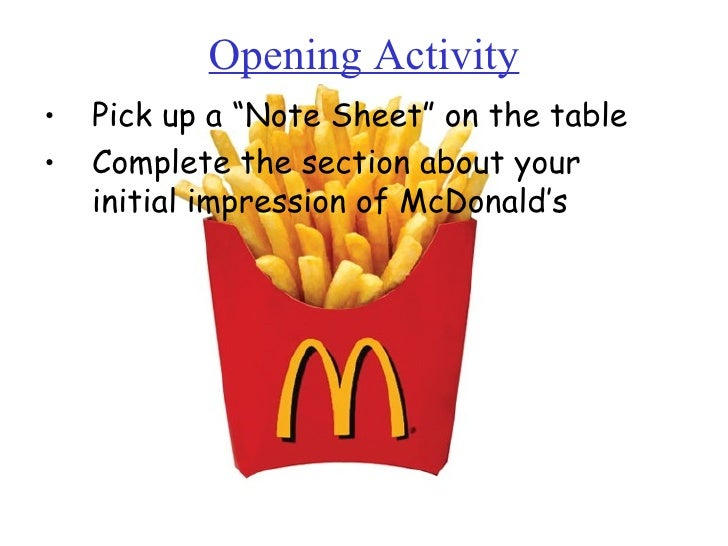 "Opening Activity <ul><li>Pick up a ""Note Sheet"" on the table </li></ul><ul><li>Complete the section about your initial imp..."
