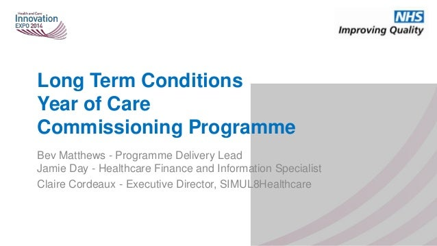 Long Term Conditions Year of Care Commissioning Programme Bev Matthews - Programme Delivery Lead Jamie Day - Healthcare Fi...