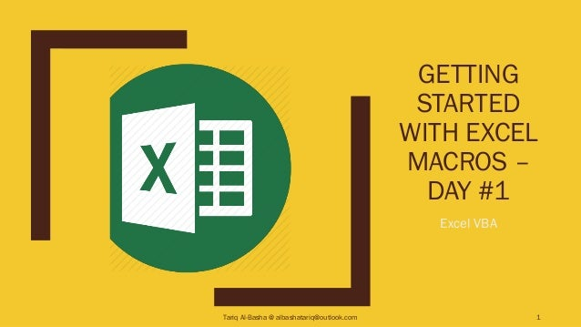 Getting Started with Excel Macros – Day #1