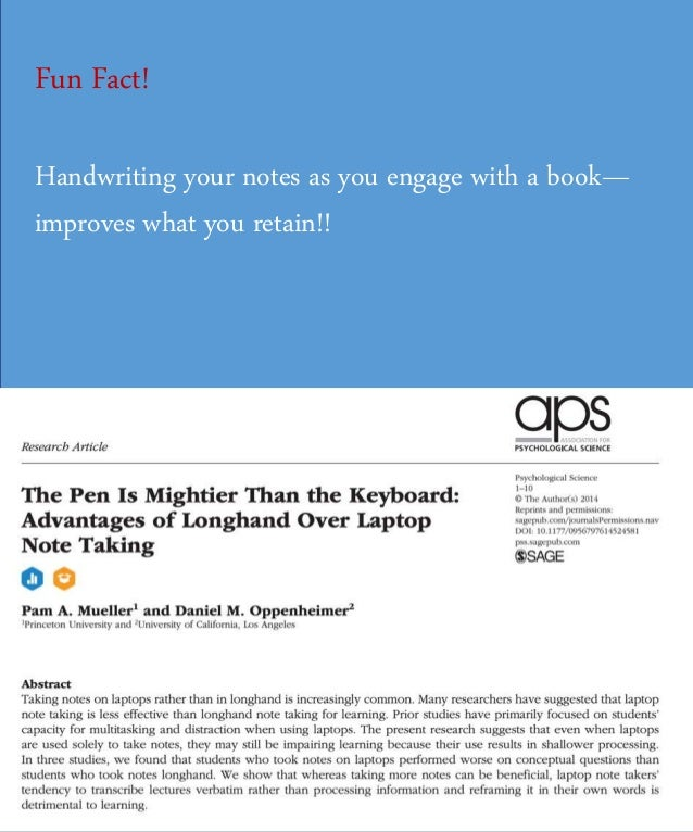 Fun Fact! Handwriting your notes as you engage with a book— improves what you retain!!
