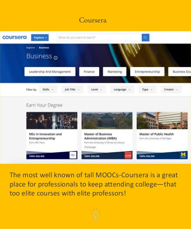 MOOCs (Massive Open Online Courses) are University Courses taught by University Professors—intended to reach the every-day...