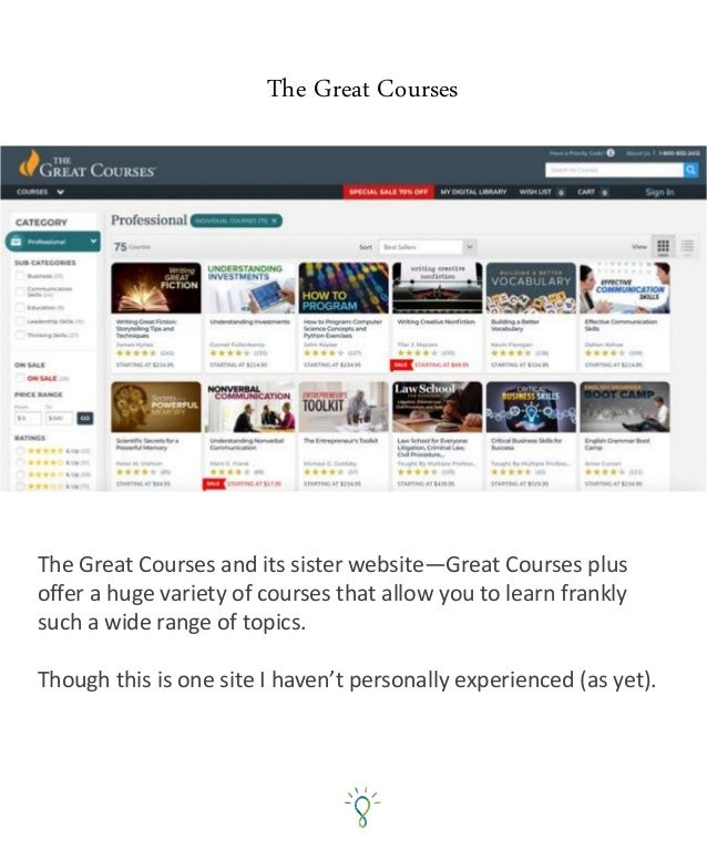 Udemy Udemy offers a great range of courses from instructors teaching you How-To Courses. I use Udemy often when I want to...