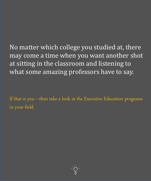 What you can learn goes way beyond just the class lectures. You learn from other participants to the program, and you lear...