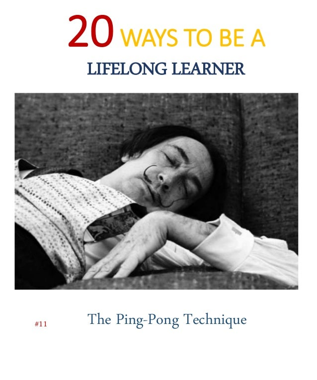 Just like a game of Ping-Pong, you consciously alternate between focused and diffuse thinking
