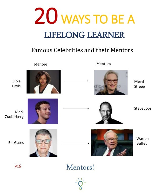 How To Find A Mentor Here are some tips for finding a good mentor… 1. Do not ask strangers to be your mentors – As Sheryl ...