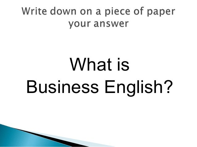 Introduction to Business English - Day 1 Slide 3