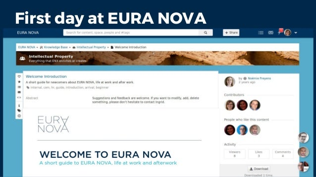 First day at EURA NOVA