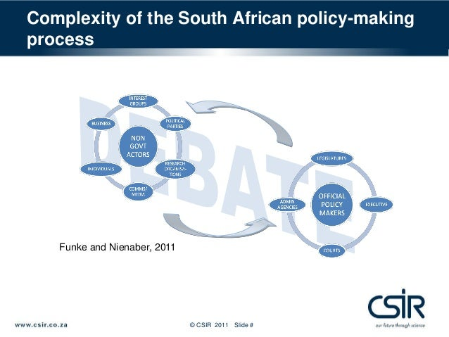 policy making south africa It is almost two decades since the apartheid regime ended and a democratically elected government was born in south africa as its international isolation dissolved, its presence in the global economic and political arena has increased.