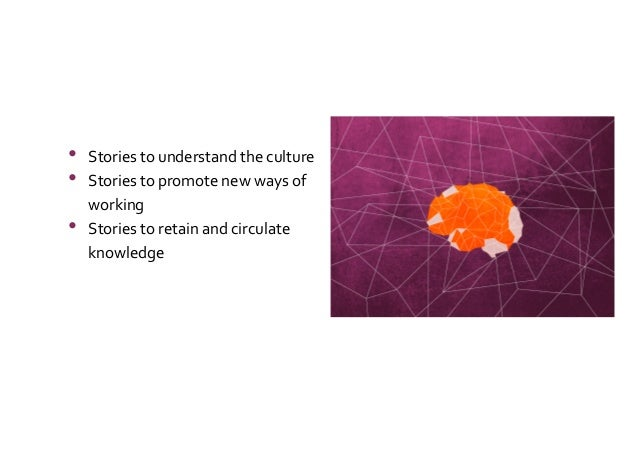 Stories to Retain and Circulate Critical Knowledge Slide 3