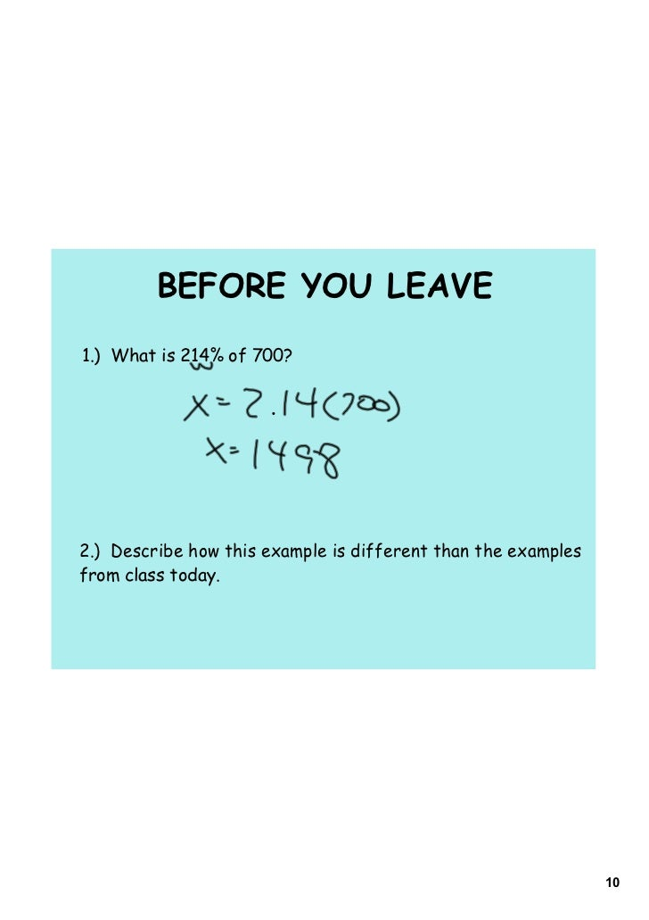 how to solve percent equations