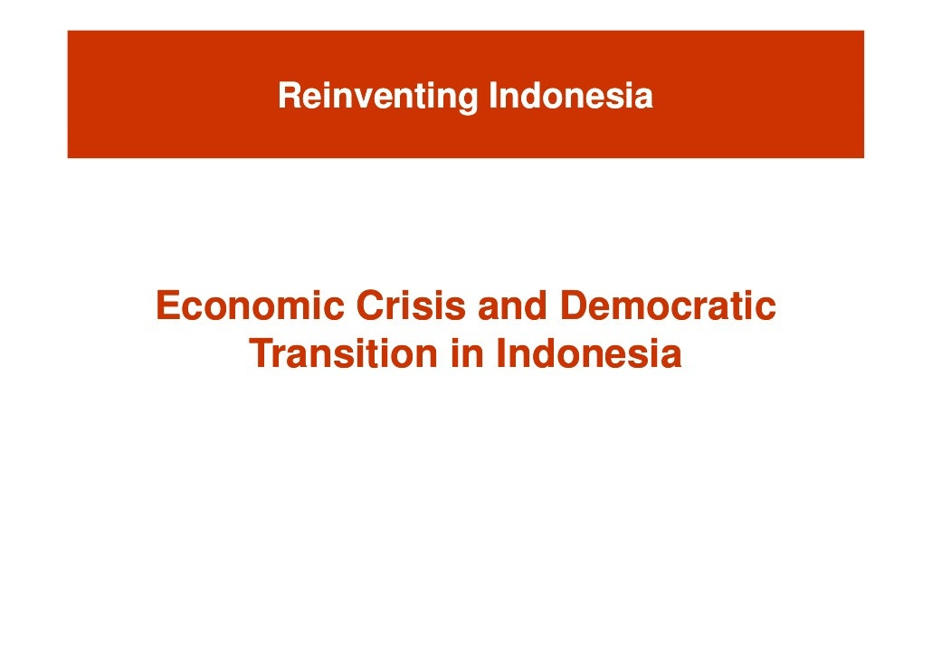 Indonesia Crisis As An Example