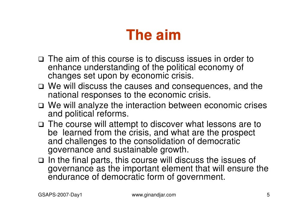 economic governance for crisis prevention Global economic governance after the crisis (article begins on next page) the harvard community has made this article openly available please share how this access benefits you.