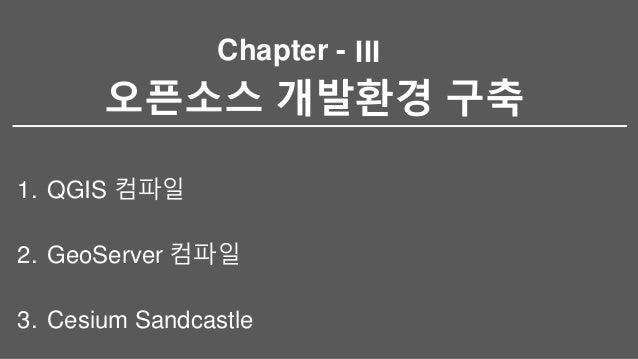 Chapter - 오픈소스 개발환경 구축 1. QGIS 컴파일 2. GeoServer 컴파일 3. Cesium Sandcastle III