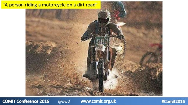 """""""A person riding a motorcycle on a dirt road"""" @dw2"""