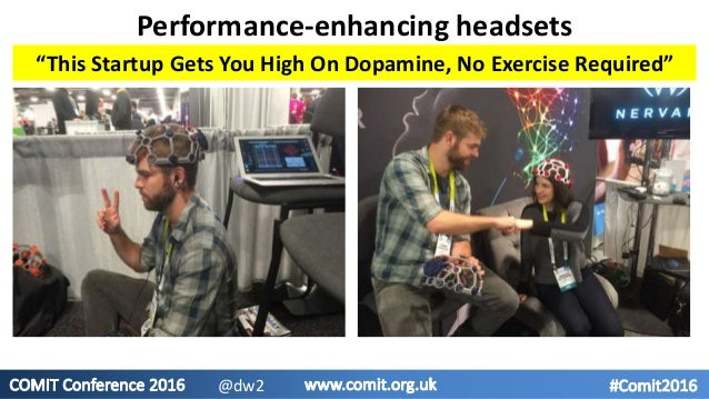 """Performance-enhancing headsets """"This Startup Gets You High On Dopamine, No Exercise Required"""" @dw2"""
