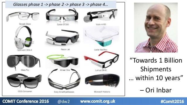 """""""Towards 1 Billion Shipments … within 10 years"""" – Ori Inbar Glasses phase 1 -> phase 2 -> phase 3 -> phase 4… @dw2"""