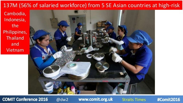 137M (56% of salaried workforce) from 5 SE Asian countries at high-risk Cambodia, Indonesia, the Philippines, Thailand and...