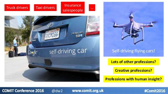 Truck drivers Taxi drivers Insurance salespeople Lots of other professions? … Creative professions? Professions with human...