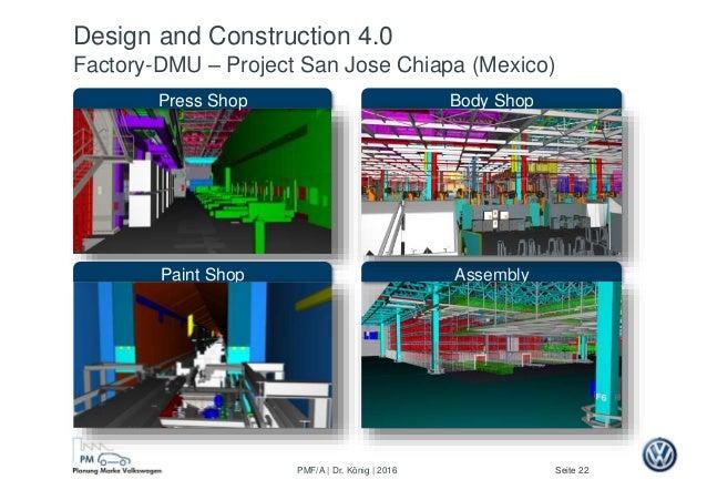 Seite 22PMF/A | Dr. König | 2016 Assembly Press Shop Paint Shop Body Shop Design and Construction 4.0 Factory-DMU – Projec...