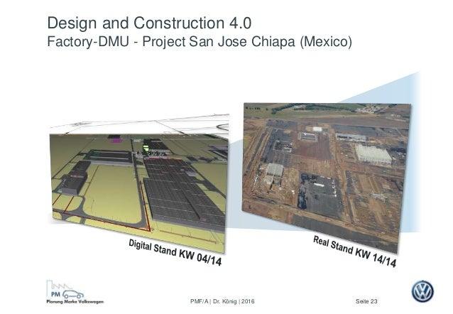 Seite 23PMF/A | Dr. König | 2016 Design and Construction 4.0 Factory-DMU - Project San Jose Chiapa (Mexico)