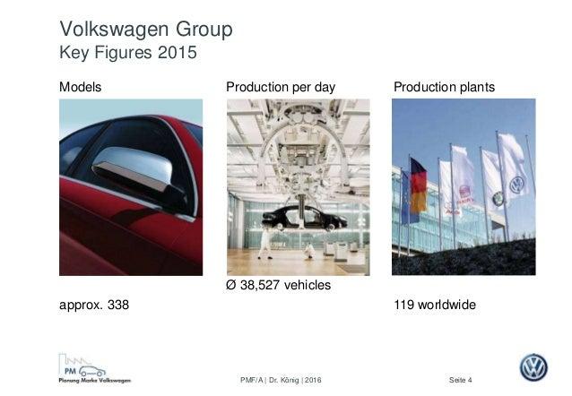 Seite 4PMF/A | Dr. König | 2016 Volkswagen Group Key Figures 2015 Models approx. 338 Production plants 119 worldwide Produ...