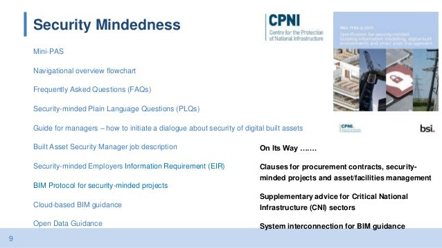9 Security Mindedness Mini-PAS Navigational overview flowchart Frequently Asked Questions (FAQs) Security-minded Plain Lan...