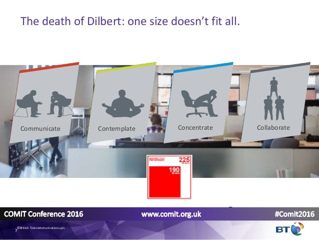 7 Contemplate ConcentrateCommunicate Collaborate The death of Dilbert: one size doesn't fit all. 7 ©British Telecommunicat...