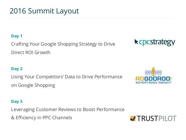 Day 1: 2016 Google Shopping Virtual Summit Slide 2
