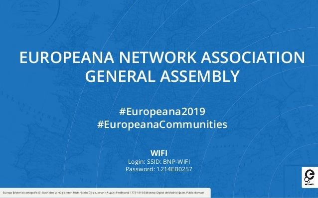 Europeana 2019 - Connect Communities - 27-28 November 2019 - Auditorium Slide 2