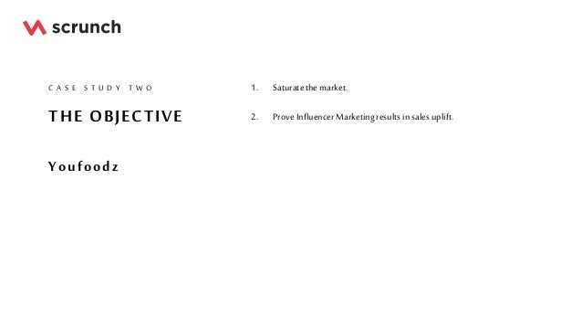 THE OBJECTIVE Youfoodz C A S E S T U D Y T W O 1. Saturatethe market. 2. ProveInfluencer Marketingresultsin salesuplift.