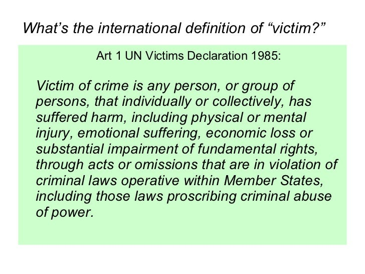 intro to Human Rights Violations and Victims' Rights