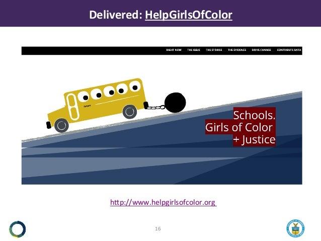 Delivered: HelpGirlsOfColor hNp://www.helpgirlsofcolor.org  16
