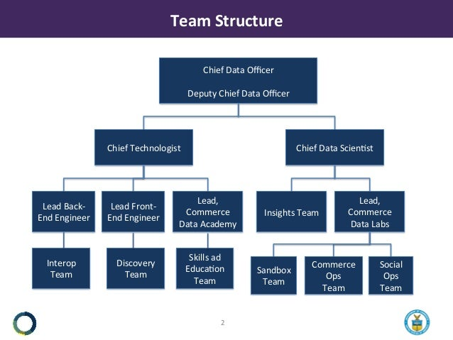 TeamStructure Chief DataOfficer Deputy Chief DataOfficer Chief Technologist Chief DataScien8st Lead Back- EndEngineer ...