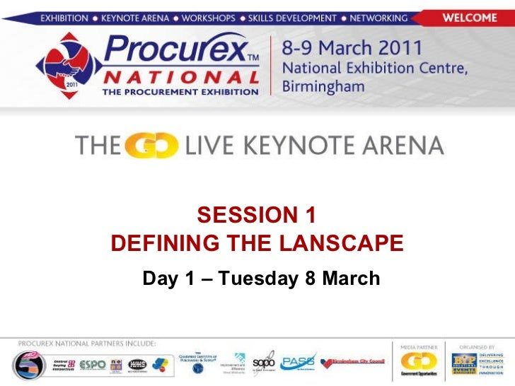 SESSION 1 DEFINING THE LANSCAPE   Day 1 – Tuesday 8 March