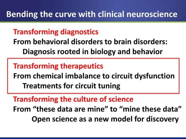 Treating mental illnesses as circuit disorders  Sci Transl Med 2012 Nat Rev Drug Dev, 2013