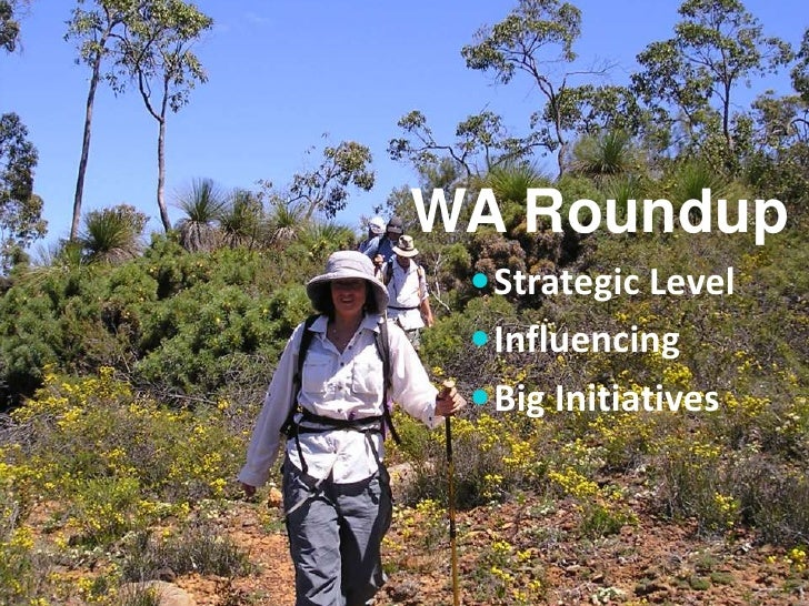 WA Roundup  Strategic Level  Influencing  Big Initiatives