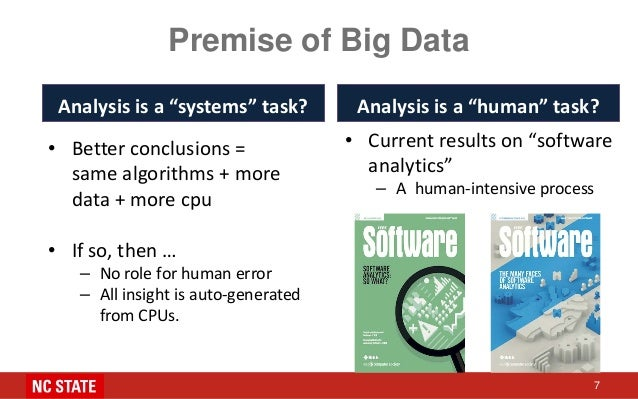 """Premise of Big Data Analysis is a """"systems"""" task? • Better conclusions = same algorithms + more data + more cpu • If so, t..."""