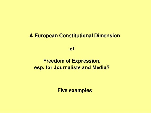 Freedom of Expression, Media and Journalism under the European Human Rights System Slide 3