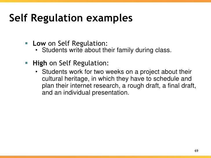 Self-regulation Taking Charge of Learning. Skill Will Learning ...