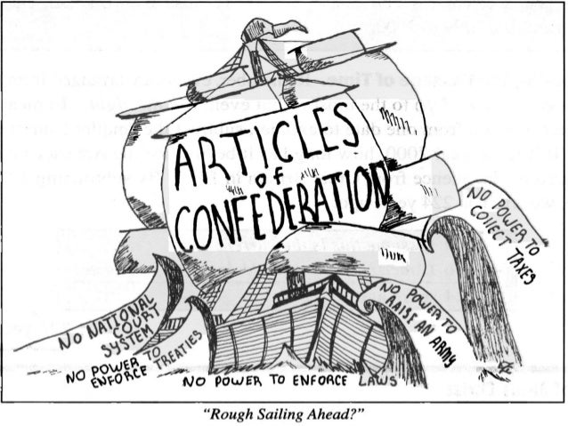 Articles Of Confederation Drawing