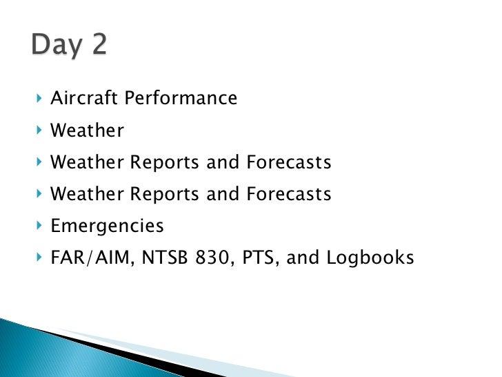 <ul><li>Aircraft Performance </li></ul><ul><li>Weather </li></ul><ul><li>Weather Reports and Forecasts </li></ul><ul><li>W...