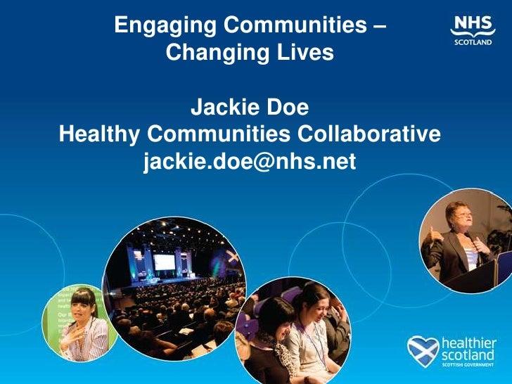 Parallel Session 4.5 Stronger Communities... Better Lives? Slide 2