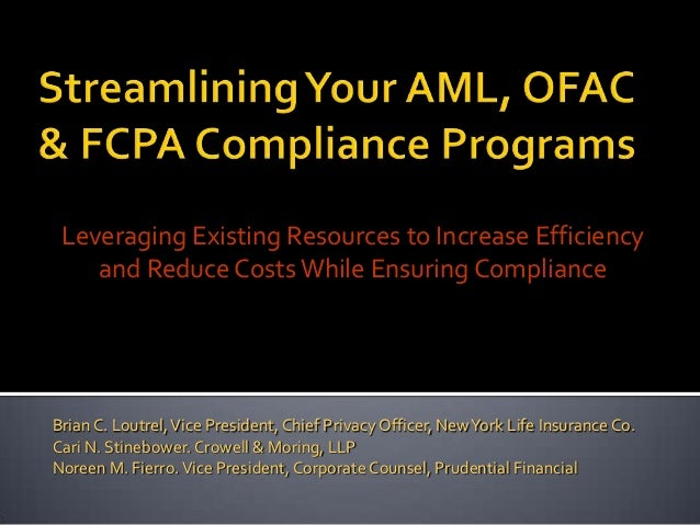 Leveraging Existing Resources to Increase Efficiency    and Reduce Costs While Ensuring ComplianceBrian C. Loutrel, Vice P...