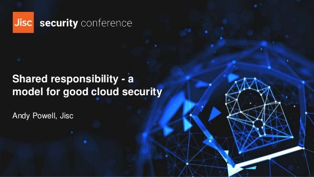 Shared responsibility - a model for good cloud security Andy Powell, Jisc