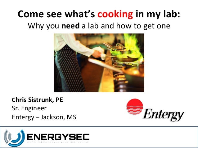 Come See What's Cooking in My Lab
