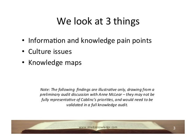 Using Knowledge Audits to Prioritise Focus Areas for Enterprise Social Tools Slide 3