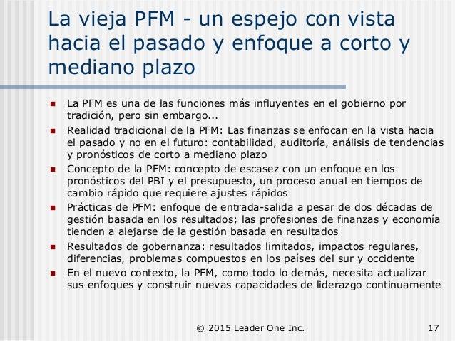 La vieja PFM - un espejo con vista hacia el pasado y enfoque a corto y mediano plazo  La PFM es una de las funciones más ...