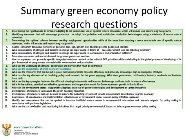 Economic Policy Questions and Answers