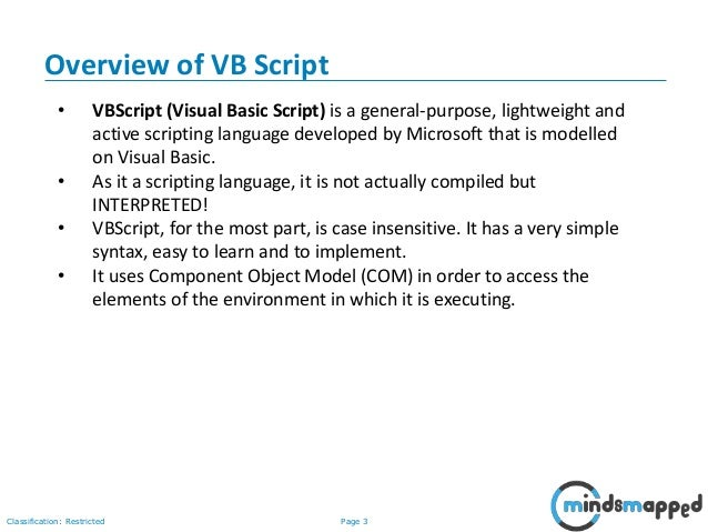 VBScript in Software Testing
